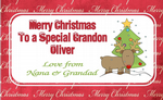 Personalised Christmas Chocolate Bar Wrapper  Design 2